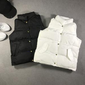 Spor Marka Erkekler Kadınlar Kalın Aşağı Yelek Tasarımcı Kış Kadife Sıcak Aşağı Ceket Ceket Saf Renk Harf Baskı Düğme Bluz Casual En B101184L