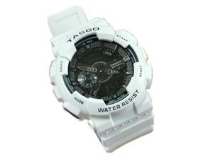 2020 5pcs / lot NOVO G Relógio de pulso dos homens da marca, Esporte dupla afixação GMT Digital LED reloj hombre relógio militar masculino relogio para adolescentes