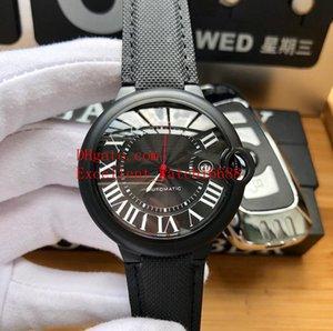 Heiße Verkaufsqualitätsuhren 42 Millimeter WSBB0015 WSBB0025 Ballon-Schwarzes PVD-Gehäuse römisches schwarzes Vorwahlknopf-Tagesdatum Asien automatische mechanische Armbanduhr der Männer