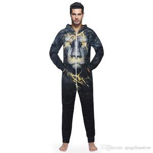 2018 Winter-Männer Plus-Size Home Pyjamas One Piece Adult Baby Body Herren Damen Superman Overall Nachtwäsche Kapuzenjacke