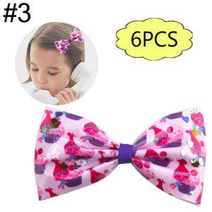 envío libre 6pcs 4.5-5 '' PVC brillo de lentejuelas trolls arcos del pelo accesorios para el cabello muchacha de la historieta