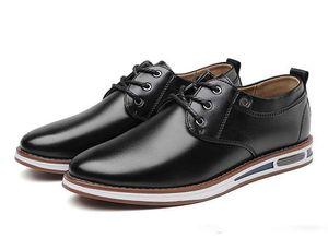 Nueva primavera para hombre Oxford Business Fashion Man Dinner Party Shoe Soft Casual transpirable Smart Men's Flats Business Office Dress Leather Shoe