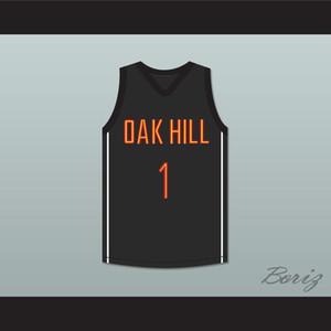 Гарри Джайлс 1 Oak Hill Academy черный баскетбол Джерси-1 обычай любое имя любое число Бесплатная доставка цвет белый