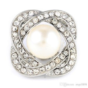 18mm pearl charm noosa chunks buttons fit various snap button bacelet