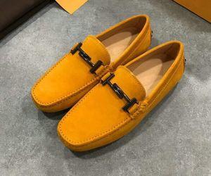 Новые дизайнерские мужские ботинки для отдыха на плоской подошве из замши с итальянской пряжкой с металлической пряжкой Peas flattie вождения мокасины 38-44