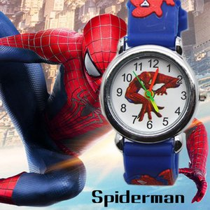 3D Spiderman Children's Watches For Boys Girls Clock Kids Watch Superhero Spider Man Silicone Children Watch Baby Birthday Gift