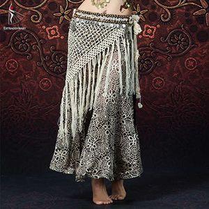 Les femmes danse du ventre perles Long Fringe Hip Bellydancing Ceintures Gypsy Costume Accessoires