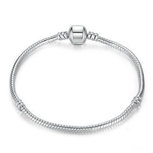 Bracciale di alta qualità 16-23cm d'argento del serpente di collegamento Chain misura il braccialetto Pandora braccialetto europeo di fascino per le donne la produzione di gioielli fai da te