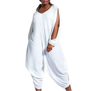 feitong jumpsuit 플러스 사이즈 rompers 여자 강 하복구 여름 Linen Overalls 여성 점프업 VIntage Lantern Pants # 3.5 + 1