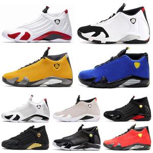 Air jordan retro 14 14s ArJordâniaRetro14 14 s Homens tênis de basquete Vermelho trovão Universidade ouro bastão de doces Varsity Royal Mens Sports Shoes tamanho 7-13