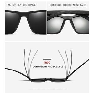 MAXJULI Retro Sports Polarized Sunglasses For Men Square TR90 Black Frame Sports Eyewear Hiking Sun Glasses Oculos de sol uv400