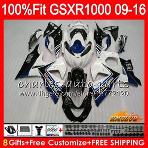 Впрыск для SUZUKI GSXR1000 2009 2010 2011 2012 2014 2015 2016 16HC.156 GSXR-1000 K9 GSXR 1000 09 10 11 12 13 15 16 Обтекатель белый черный