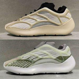 Kanye West 700 V3 3M Cinzento Preto brilham no escuro tênis de basquete Moda Athoetic Sports Correndo Sneakers