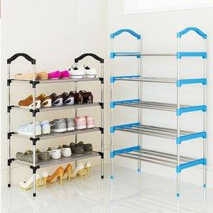 Taşınabilir Çok Katmanlı Metal Ayakta Raf Ayakkabı Organizatör Kapı Ayakkabı Saklama Dolabı Raf Ev Mobilya Q190605