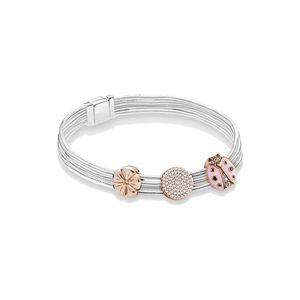 Pandora Estilo 925 Sterling Silver Reflexo Logo Clip Charme Reflexo Crown Clip Eternal Encantador DIY Designer Mulheres Bracelete com Caixa
