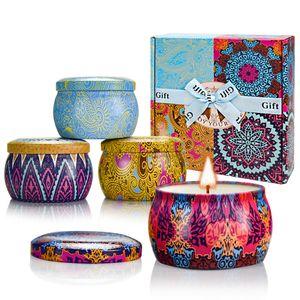 Presentes Dia aromaterapia vela de Natal da vela Set Romântico cera Scented Candle Aromaterapia Smokeless Ano Novo dos Namorados