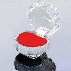 Olanağı sağlayan 3,8 cm'lik Mücevher Paketi Kutuları Halka Tutucu Taşınabilir Akrilik Şeffaf Halkalar Küpe Ekran Kutusu Saklama Kutusu Kutuları Kutuları Organizatör GGA2862-1