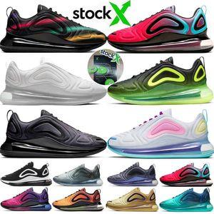 2020 Metallic Platinum 720 homens tênis 720s mulheres Obsidian exterior Jogging sapata de passeio Caminhadas almofada sneaker 72c da X Chaussures