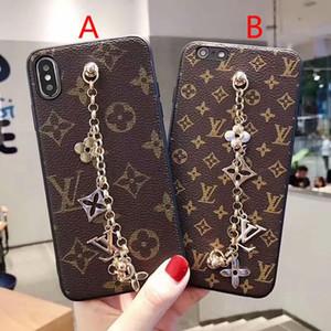 nouveau cas de téléphone lettre de bracelet pour iphone 11 11Pro Xs max Xr X 7 7plus 8 8plus 6 6plus dur de couverture arrière