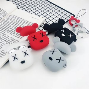 Hot Headphone Cover Violent Bear Silicone for Apple Headphones Set AirPods Cover 1.2 Generation Case
