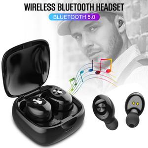 XG-12 Mini TWS Bluetooth 5.0 Kulaklık Spor Twins Gerçek Kablosuz Kulaklık Kulaklık Kulaklık In-kulak HandsFree Mikrofon Cep Telefonu A2 A6 X18 T18 için