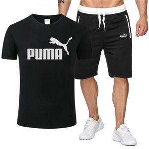 V6Puma erkek Lüks markaTasarımcı T Shirt Erkekler Şort O yaka Kısa Kollu Erkek Giyim Moda Yaz Plaj Şort eşofman ayarlar