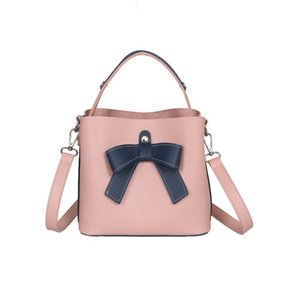 Winmax Ladies Top-handle Bag With Bow Women Bucket Shoulder Bag Small Leather Tote Bag Female Crossbody Messenger Bags For Girls