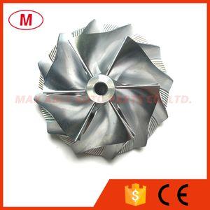 TD04HL 47.10 / 63.40mm 6 + 6 cuchillas Rueda compresora Turbo Billet inversa / Aluminio 2618 / Rueda compresora Turbo Milling para Turbocompresor CHRA