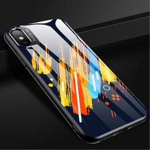 크리 에이 티브 모델 금속은 iphone11 미러 낙서 유리 애플 (11) 휴대 전화 케이스 낙하 방지 airpods 케이스 쉘 렌즈를 두르고