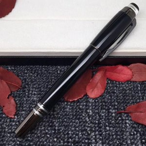 New Luxury Monte brand Flat crystal Rollerball pen Pvd-plating coated fittings stationery office school supplies with Germany Number on clip