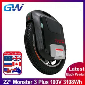 2020 Gotway Mostro 3 Plus 22inch Titan 3 ° Mostro elettrico monociclo batteria 100V 3108WH Bluetooth Speaker nero pieno 21700