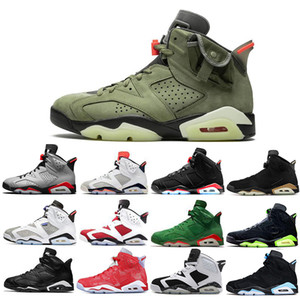 Più economico Nuova Travis Scotts X 6 scarpe Media Oliva 6s pallacanestro degli uomini Giallo Cactus Jack Tinker UNC Sport DMP Oregon Mens scarpa da tennis