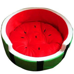 Nettes Kennel Warm Wassermelone Form Hundematratze Sofa Haustier-Bett-Fruit-Bett (geeignet für Tiere, Maximum Gewicht 4 kg)