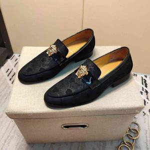 2020 casuali suola piatta scarpe di cuoio formali nuovi uomini alla moda 121501