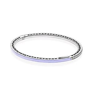 2019 NEW 100% 925 Sterling Silver perlados radiantes Corazones de joyería brazalete de Pandora 590537En66 Braceler encanto original Juego de regalo