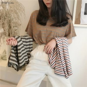 Womens Designer T Shirts Pretty Girls Shortsleeve Grid Hot Drilling Rhinestone Casual Tops Stripe Shirts Perspective Handsome Korean Top