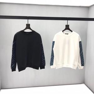 20ss самый роскошный модный бренд кофты мужчины свитер вышивка шаблон удобная и мягкая ткань 3D вышитые круглый вырез свитера