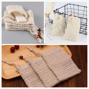 3 Styles Soap Tasche Versäubern Mesh-Soap Saver Beutel Halter für Dusche Badewanne Schäumende Naturbadetasche Sisal-Dusche-Seifen-Tasche