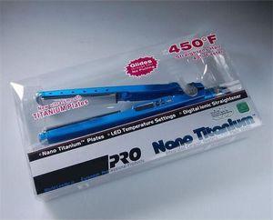 Stock Hair Straigtener PRO Na-No! تيتانيوم 1/4 صفيحة الحديد الأيوني المسطح أدوات صالون Straightener