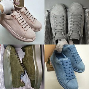 20ss desenhista calça de veludo Oversized Sneakers Marca Vacuum Almofada Casual sapatos sola de borracha Suede Platform Couro Chaussure Sapatos Breve