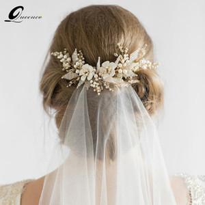 Vigne Party Bijoux Queenco or mariée Peigne perle perles de mariage Accessoires cheveux femmes fille Coiffe