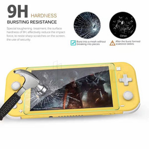 9H Tempered Glass For Nintendo Switch Lite HD Anti-Scratch Glass Screen Protector no retail package