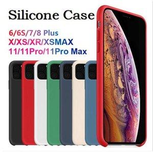 LOGO Orijinal Resmi Sıvı Silikon Davaları Kauçuk Telefon Kılıfı için Apple iPhone 11 Pro Max XS XR X 8 7 6 6S Artı ile Kutu Var