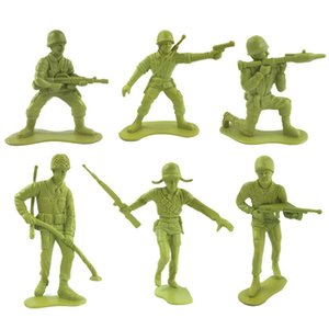 6Pcs Mini Simulation Military Army Soldiers Action Figures Model Kids Toy Gift
