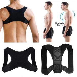 Voltar Shoulder Posture Corrector cinta ajustável Adulto Segurança Sports Voltar Apoio Corset Spine Suporte Belt Postura Correction