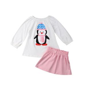 Pudcoco Marque Nouveau Nouveau-né bébé Kid bébé Encolure T-shirt Tops Tenues Robe Tutu Set