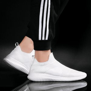 Men Athletic Shoes 2020 Summer New Style Breathable Woven MEN'S Shoes Slip-on Loafers Large Size Casual Mesh Men's