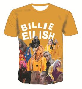 Digital gedruckte lose Frau Tees Gelegenheitsrundhalsausschnitt Damen Tops Billie Eilish Sommer-Frauen-T-Shirts Mode