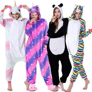 New Unicorn Pajamas onesie Women Kugurumi panda Winter Flannel Pajama Kigurumi Adult Nightie Stitch unicornio Sleepwear Overalls12
