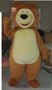 2019 venda direta da fábrica Masha Urso Bruin Ursa Grizzly personagem de banda desenhada do traje da mascote frete grátis
